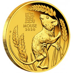 GOLD 2020 Year of the Mouse 1 oz Proof $100