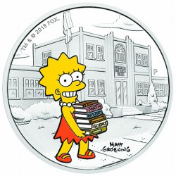 The Simpsons - Lisa 2019 1oz Silver Proof Coin