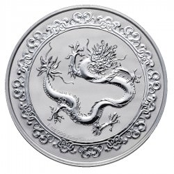 NIUE 1 oz silver Ceslestial GREEN DRAGON 2019 $2
