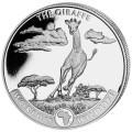 Wildlife 1 oz silver GIRAFFE 2020 Congo 20 Fr