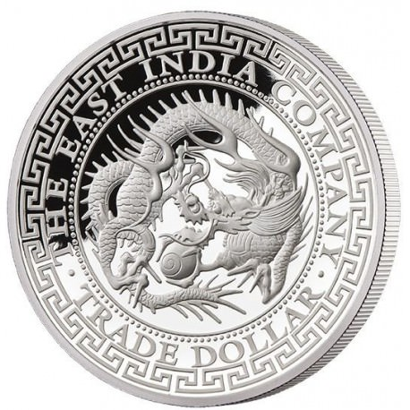 1 oz silver CHINESE TRADE DOLLAR 2019 - PROOF