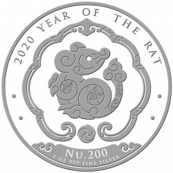 1 oz silver KINGDOM OF BHUTAN 2020 RAT NU200