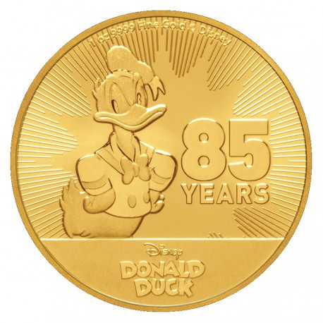 NIUE 1 oz GOLD Disney Donald Duck 2019 85th Anniversary $250