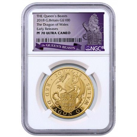 1 oz gold QUEEN'S BEAST 2017 RED DRAGON £100
