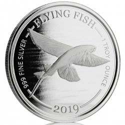 1 oz silver FLYING FISH 2019 Barbados $1