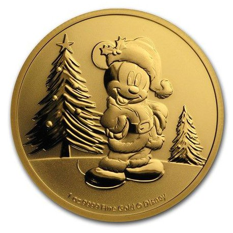 NIUE 1 oz GOLD Mickey Mouse FANTASIA 2019 $250