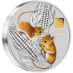 +++ PM Australian Lunar Coin Series III 2020 Year of the Mouse 1 Kilo Silver Coin with Gold Privy Mark Mintage 338 +++