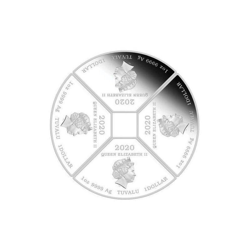 Wedding 2020 1oz Silver Proof Coin: PM Year Of The Mouse Quadrant 2020 1oz Silver Proof Four