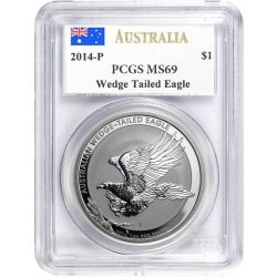 1 oz silver WEDGE TAILED EAGLE 2014 -P PCGS MS69