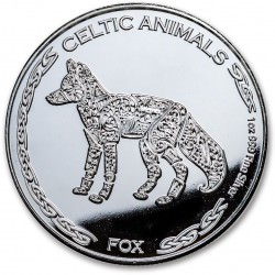 CHAD 1 oz silver Celtic Animals 2019 FOX CFA500