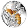 Australian Lunar Series III 2020 Year of the Mouse 1oz Silver Proof Coloured Coin