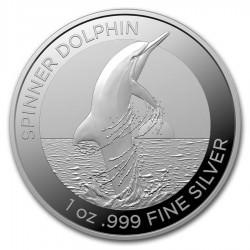 1 oz silver RAM Bottlenose Dolphin 2019