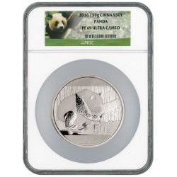 China 150 gram silver PANDA 2016 PROOF 50YN NGC PF 69 UC