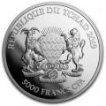 1 oz silver Mandala Elephant 2019 Chad 5000 CFA