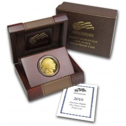 USA 1 oz GOLD Buffalo 2010 PROOF Box + Coa