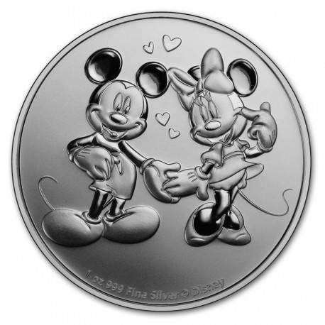 NIUE 1 oz silver MICKEY & MINNIE MOUSE 2020 $2