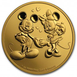 NIUE 1 oz GOLD MICKEY & MINNIE MOUSE 2020 $250
