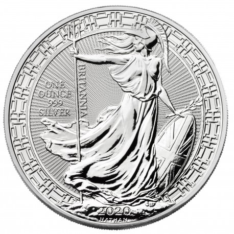 UK 1 oz silver BRITANNIA 2020 oriental border £2