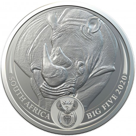 1 oz silver SAM BIG FIVE RHINO 2020 Rand 5