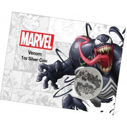 Perth Mint 1 oz silver 2020 MARVEL VENOM $1 in card