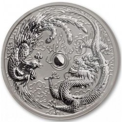 1 oz silver DRAGON & PHOENIX 2017 MINT ERROR