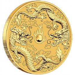 Perh Mint 1 oz GOLD DOUBLE DRAGON 2020