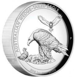 1 oz silver WEDGE-TAILED EAGLE 2018 HIGH RELIEF PROOF Box+coa