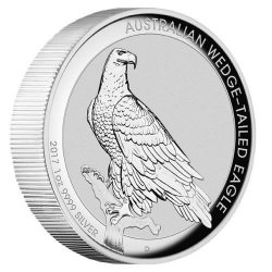 1 oz silver WEDGE-TAILED EAGLE 2017 HIGH RELIEF PROOF Box+coa