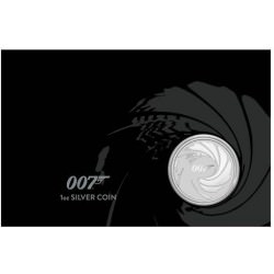 Perth Mint JAMES BOND 007 2020 1oz SILVER BULLION COIN $1 in CARD