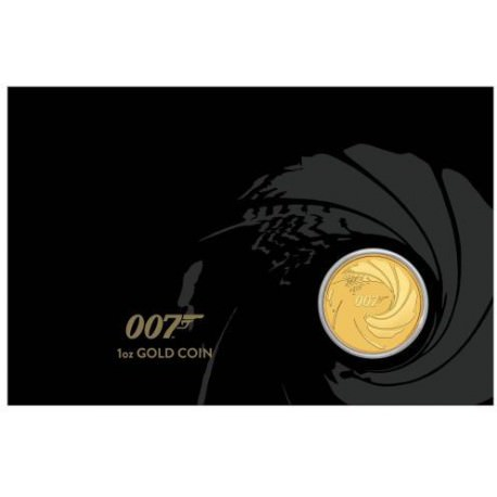 Perth Mint JAMES BOND 007 2020 1oz GOLD BULLION COIN $100 in CARD