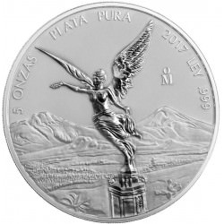 5 oz SILVER LIBERTAD 2017 Reverse Proof