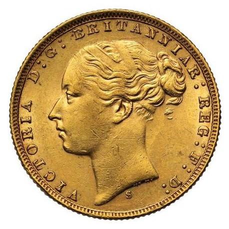 FULL GOLD SOVEREIGN 1872