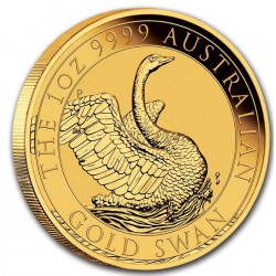 PM 1 oz GOLD SWAN 2020 $100