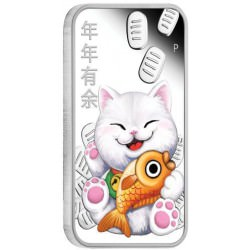 Lucky Cat 2019 1oz Silver Proof Coin