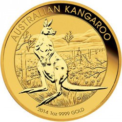 AUSTRALIAN NUGGET 1 oz gold 2014