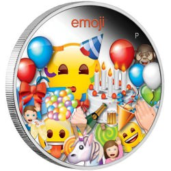 Perth Mint emoji™ Celebration 2020 1oz Silver Proof Coin $1