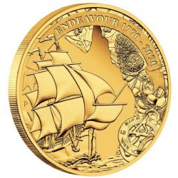Voyage of Discovery Endeavour 1770-2020 1/4oz Gold Proof Coin