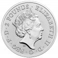 UK 1 oz silver QUEEN 2020 £2