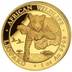 GOLD 1 oz LEOPARD 2020 SOMALIA 1000 Shillings