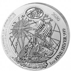 1 oz SILVER RWANDA NAUTICAL MAYFLOWER 2020 Amafranga 50