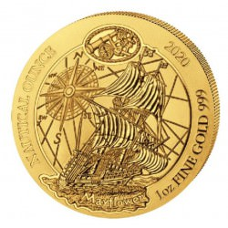 1 oz gold RWANDA NAUTICAL 2020 MAYFLOWER 100 AMAFRANGA
