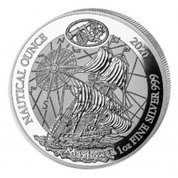 1 oz SILVER RWANDA NAUTICAL MAYFLOWER 2020 PP + COA 50 Amafranga