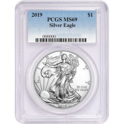 1 oz silver US EAGLE 2012 PCGS MS-69