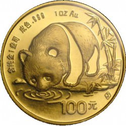 China 1 oz GOLD PANDA 1987 Y100
