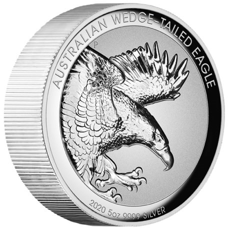 Australian Wedge-Tailed Eagle 2020 5oz Silver Proof High Relief Incused Coin