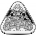 RAM 1 oz silver TRIANGULAR coin GILT DRAGON 2019 $1