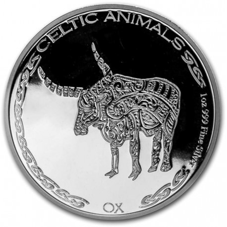CHAD 1 oz silver Celtic Animals 2020 HORSE CFA500
