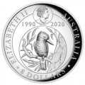 30th Anniversary Australian Kookaburra 2020 5oz Silver Proof High Relief Gilded Coin