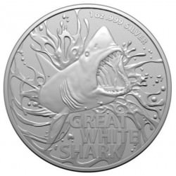 RAM MOST DANGEROUS 1 oz silver GREAT WHITE SHARK 2021 $1