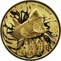 RAM MOST DANGEROUS 1 oz GOLD GREAT WHITE SHARK 2021 $100